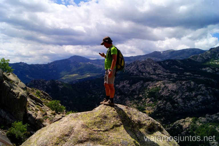 Contrastando con el GPS Ruta circular por La Pedriza, Parque Regional de la Cuenca Alta del Manzanares, Madrid
