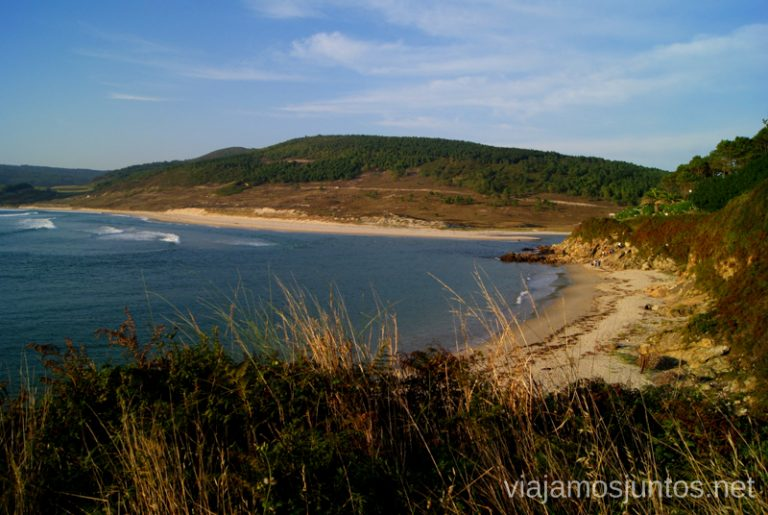 Playa de Lires desde arriba Mejores playas de la Costa da Morta, Galicia