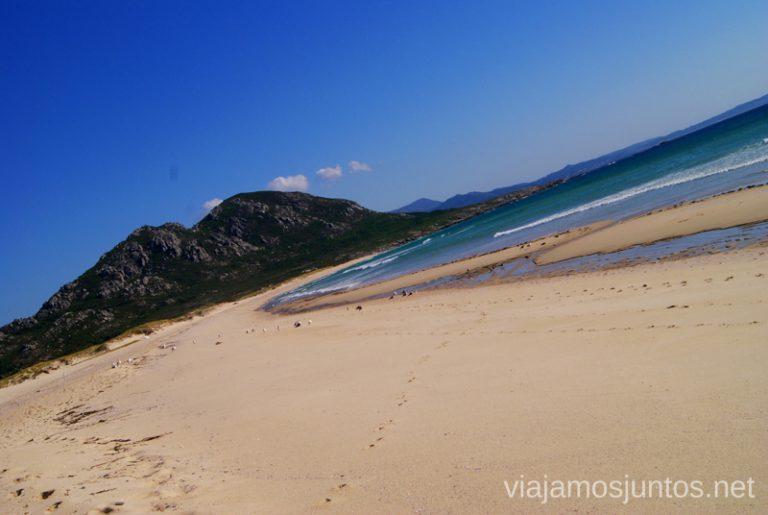 El paisaje de la playa de Louro Mejores playas de la Costa da Morta, Galicia
