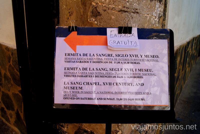 Señalización que motiva ;) Que ver y que hacer en Sagunto, Valencia.