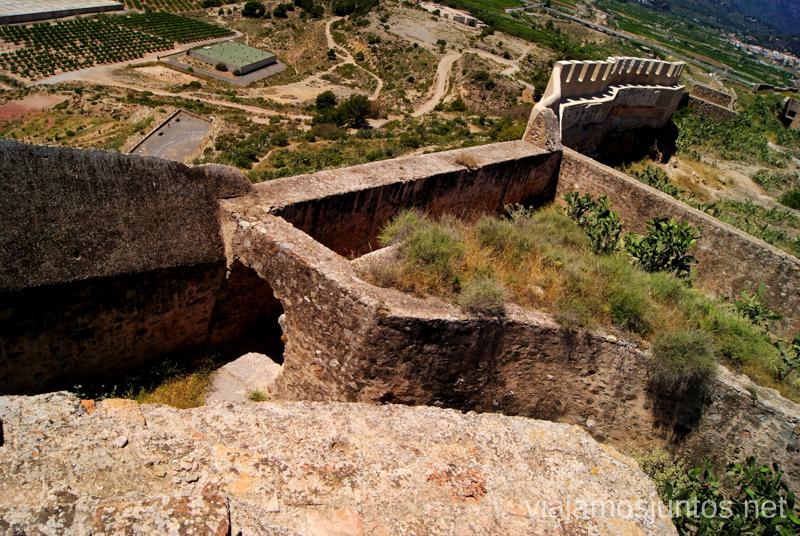 La muralla del Castillo Que ver y que hacer en Sagunto, Valencia.