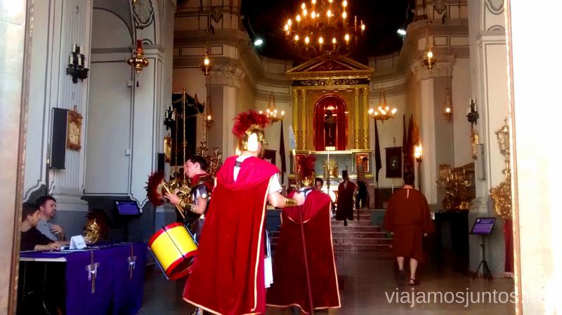 Los soldados romanos entrando en la Ermita de la Sangre Que ver y que hacer en Sagunto, Valencia.