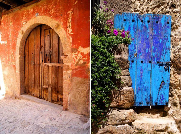 Puertas fotogénicas de Garganta la Olla Ruta de mediodía al Monasterio de Yuste y pueblo-conjunto artístico Garganta la Olla, Extremadura