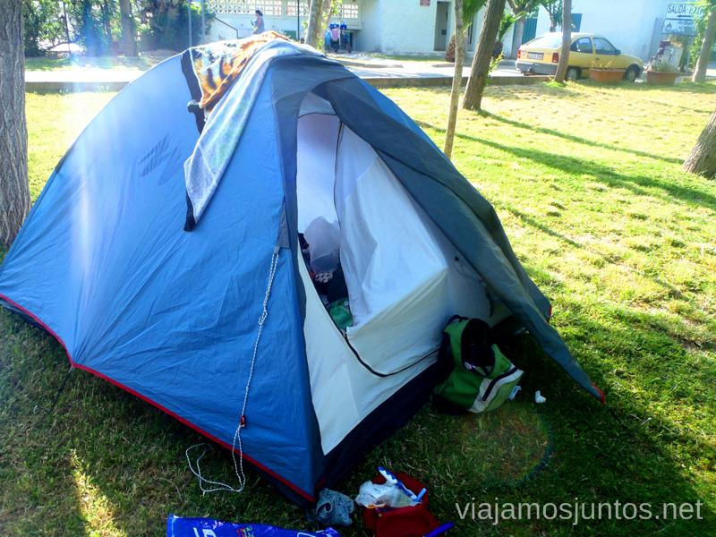 En el camping Coll Vert Valencia