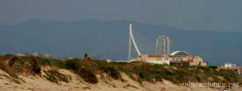Se ve Valencia desde mi playa favorita ;) Las playas Valencianas