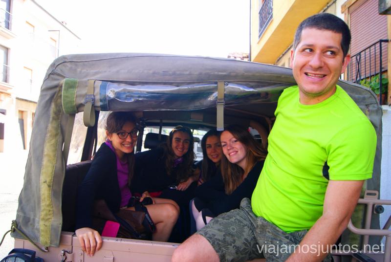 Denys parece muy contento ;) Ruta en 4x4 por lo alto del Valle del Jerte, Extremadura