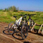 Parkings de bicis Las playas de la Costa del Azahar, Castellón, Valencia.