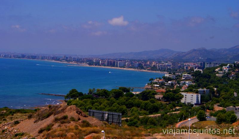 Benicàssime desde el mirador Las playas de la Costa del Azahar, Castellón, Valencia.