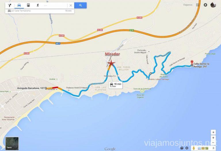 Desde Benicàssime a la playas de la Renegá pasando por el mirador Las playas de la Costa del Azahar, Castellón, Valencia.