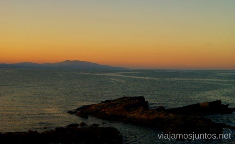 Atardecer sobre el mar Las playas de la Costa del Azahar, Castellón, Valencia.