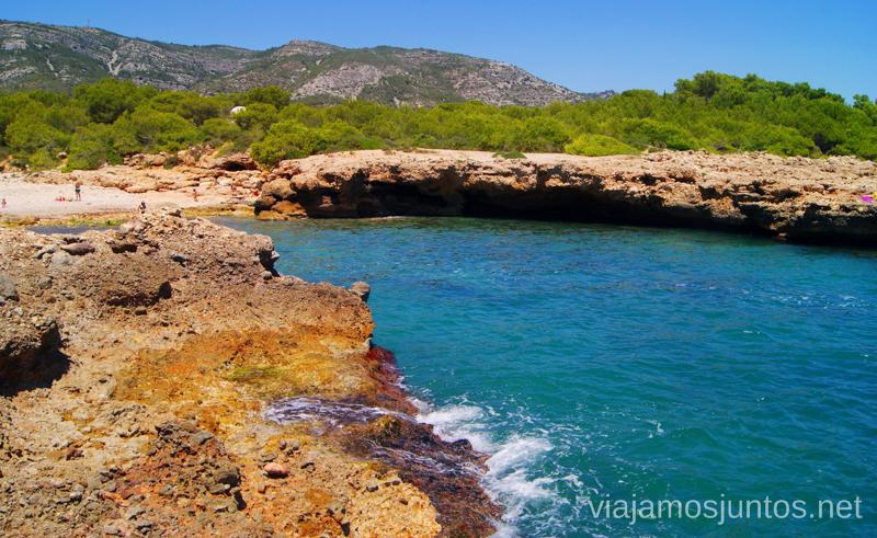 Las calas del parque natural Las playas de la Costa del Azahar, Castellón, Valencia.