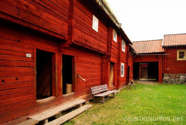 La granja Gamla Uppsala, Uppland, Suecia.