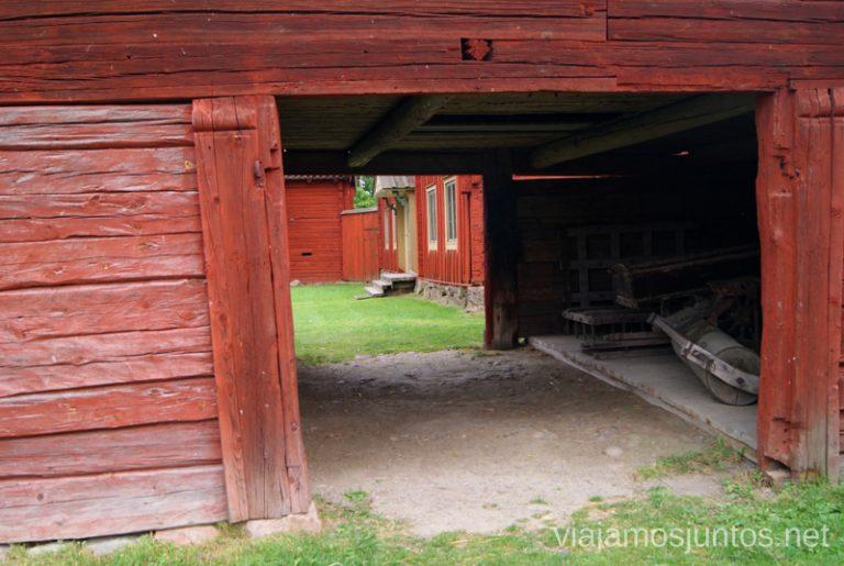 ¿Cómo es la vida en una granja? Gamla Uppsala, Uppland, Suecia.