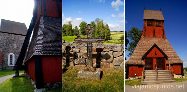 La Gamla Kyrka Gamla Uppsala, Uppland, Suecia.