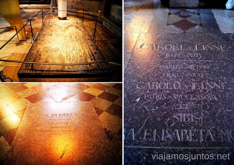 ¿Quién está enterrado en la Catedral de Uppsala? Que ver y que hacer en Uppsala, Suecia. Atracciones turísticas. Visitas.