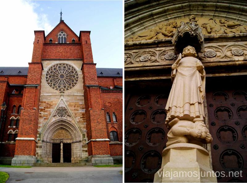La Catedral de Uppsala y la estatua de San Olaf Que ver y que hacer en Uppsala, Suecia. Atracciones turísticas. Visitas.