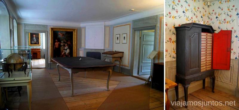 La casa. Interior Que ver y que hacer en Uppsala, Suecia. Atracciones turísticas. Visitas.