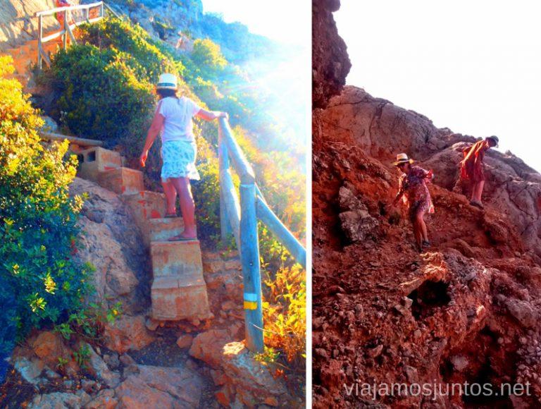 Pa'rriba... Pa'bajo... Ruta desde Les Rotes hasta laa Cueva Tallada a pie. Denia. Valencia