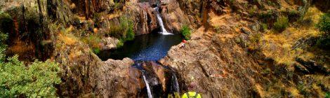 Cascadas del Aljibe Ruta Circular Las Pozas del Aljibe. El Espinar. Pueblos Negros de Guadalajara