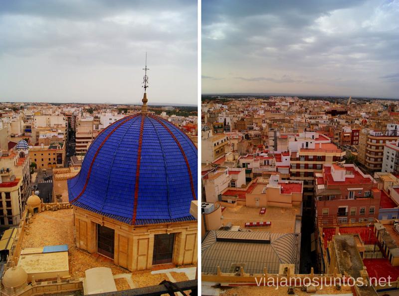 Vista panorámica de Elche desde la torre de la Basílica Que ver y que hacer en Elche, Alicante, Valencia. Datos prácticos.