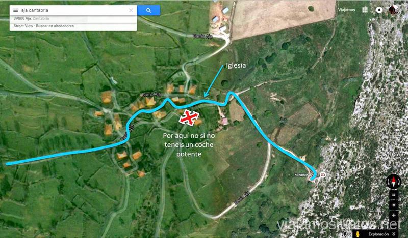 Como llegar al mirador de Aja Ruta circular en coche alrededor del Valle de Soba, Cantabria