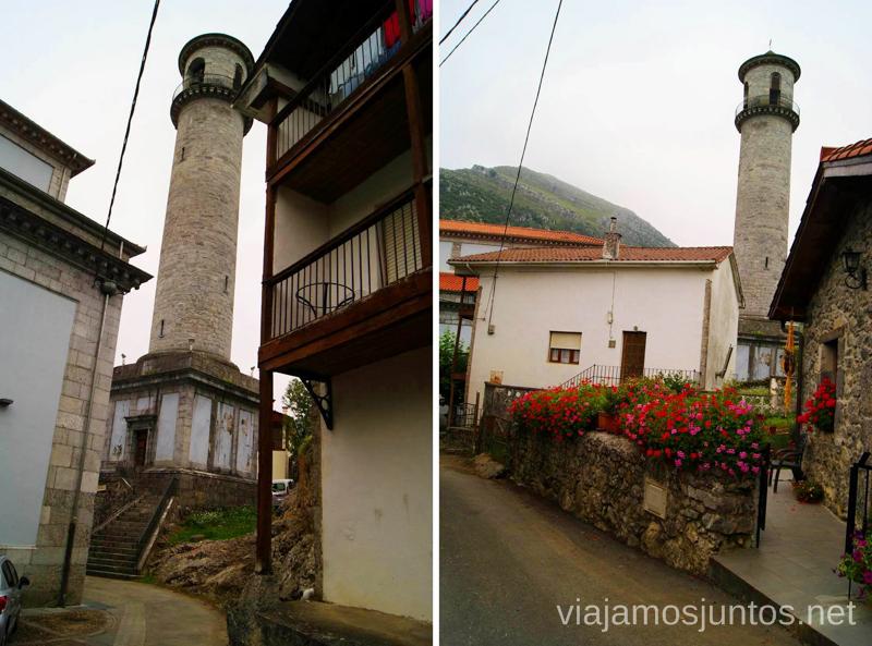 El campanario de la iglesia parroquial de Arredondo Ruta circular en coche alrededor del Valle de Soba, Cantabria