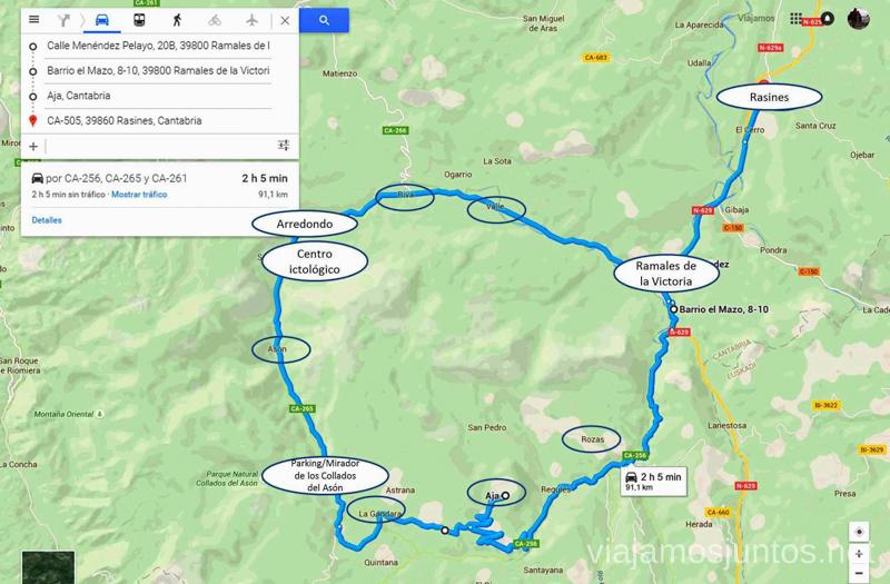 Ruta circular en coche alrededor del Valle de Soba, Cantabria