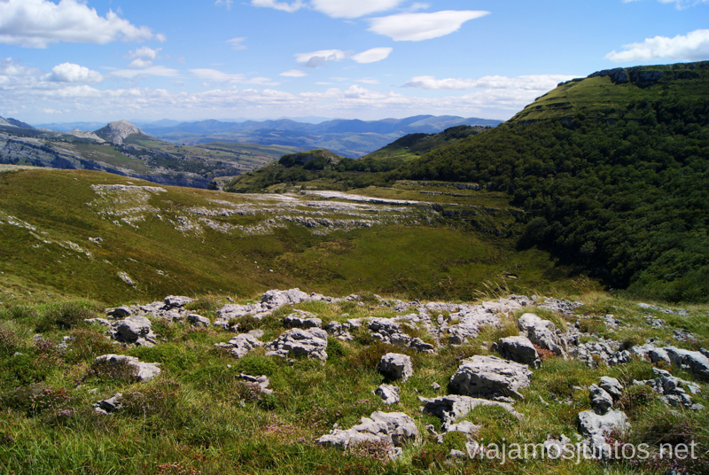 Suelo un tanto irregular... Ruta circular Vuelta a Colina, Parque Natural de los Collados del Asón, Cantabria