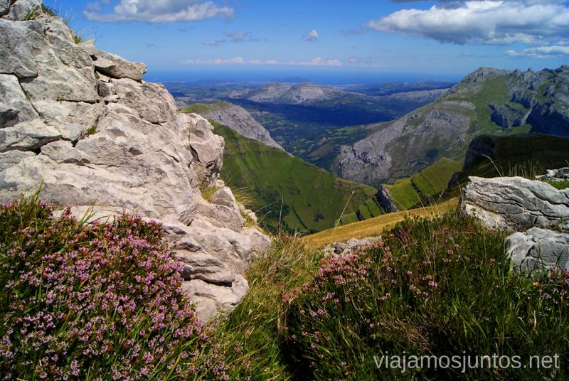 Juego de colores y texturas Ruta circular Vuelta a Colina, Parque Natural de los Collados del Asón, Cantabria