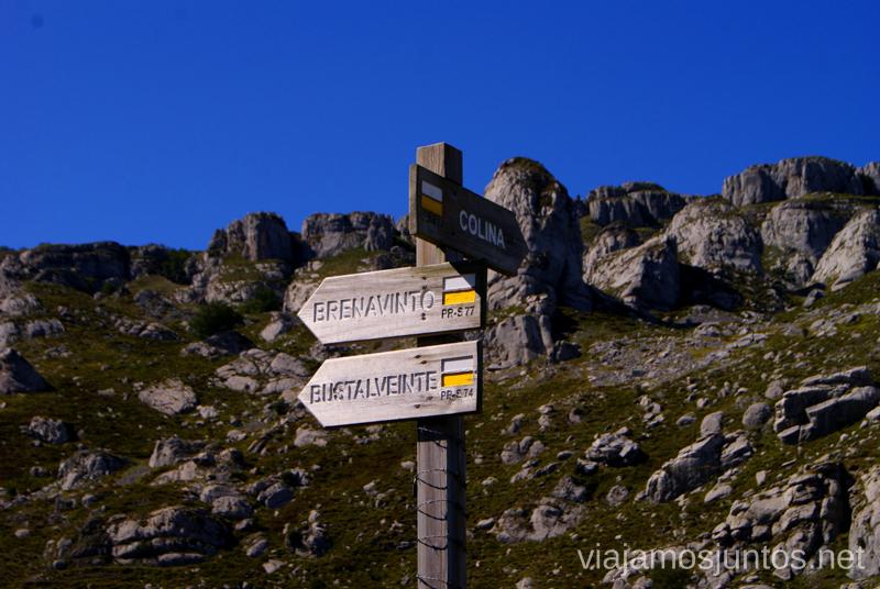 Señalización de la ruta Ruta circular Vuelta a Colina, Parque Natural de los Collados del Asón, Cantabria