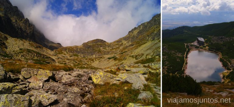 Slezky Dom al fondo, y Velke Pleso Trekking en los Altos Tatras, Eslovaquia High Tatras, Slovaquia #EslovaquiaJuntos Información práctica