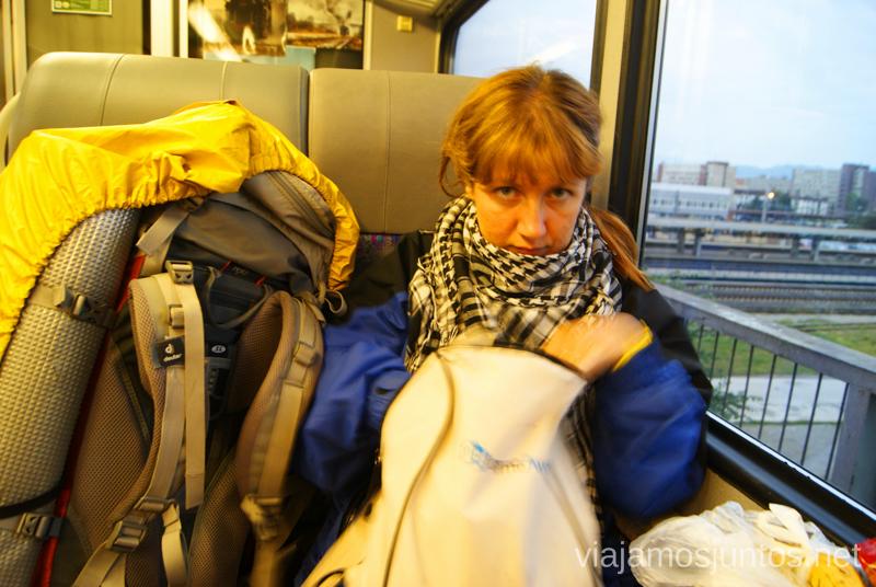 Una noche en tren... y la mañana también... Preparación del trekking de dos días por Altos Tatras, Eslovaquia. High Tatras, Slovakia