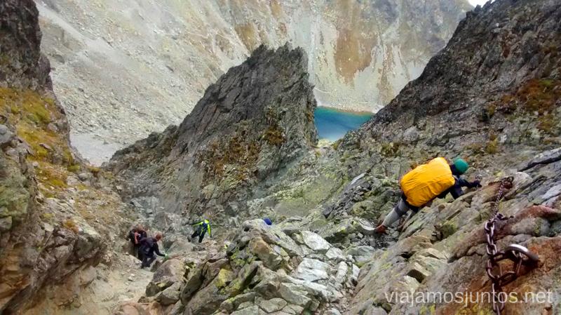 Ferrata del Sedlo Prielom (Collado Prielom) Trekking en los Altos Tatras, Eslovaquia High Tatras, Slovaquia #EslovaquiaJuntos Parte III Diario