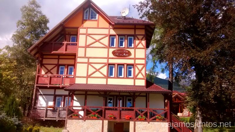 ¿Y si nos quedamos en este hotel? Preparación del trekking de dos días por Altos Tatras, Eslovaquia. High Tatras, Slovakia