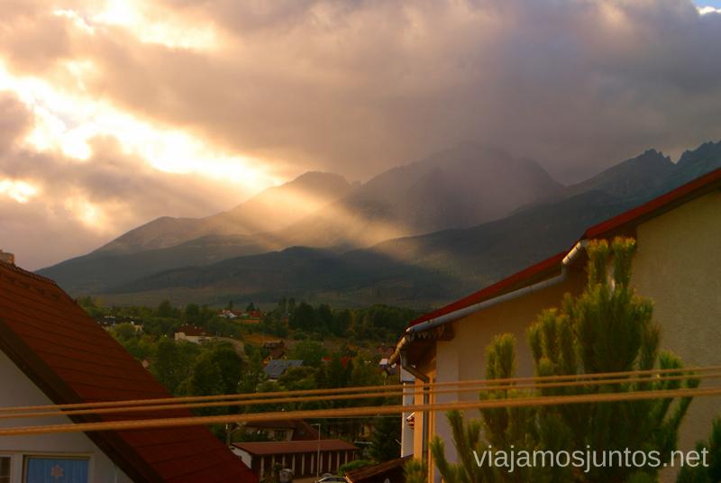 Altos Tatras desde uno de nuestros alojamientos Recorrido por Eslovaquia. Información práctica. Consejos