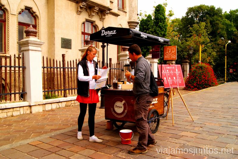 Info Cup - una original información turística en Kosice Recorrido por Eslovaquia. Información práctica. Consejos