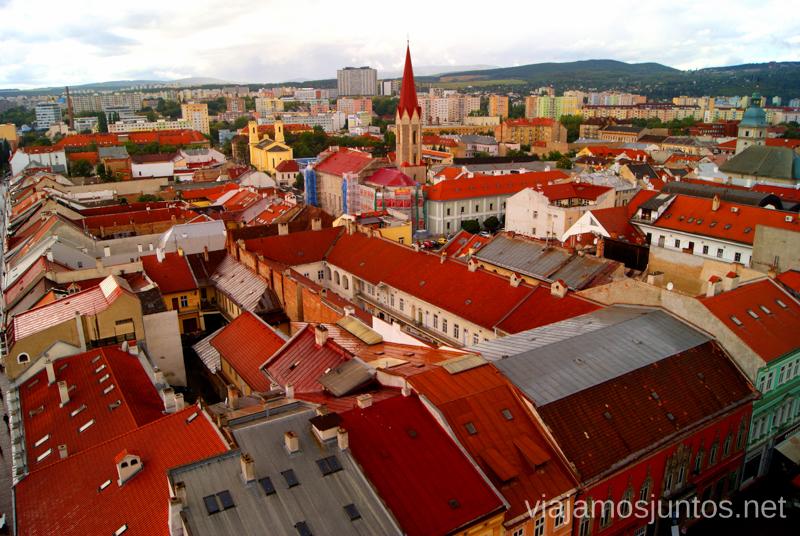 Bardejov desde la torre Recorrido por Eslovaquia. Información práctica. Consejos