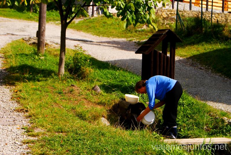 Los locales del pueblo turístico de Vlkolinec viviendo su día a día Recorrido por Eslovaquia. Información práctica. Consejos