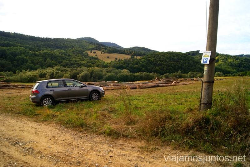 Parking de Zborovsky Hrad Castillos de Eslovaquia, Slovakia, #EslovaquiaJuntos Que ver y que hacer
