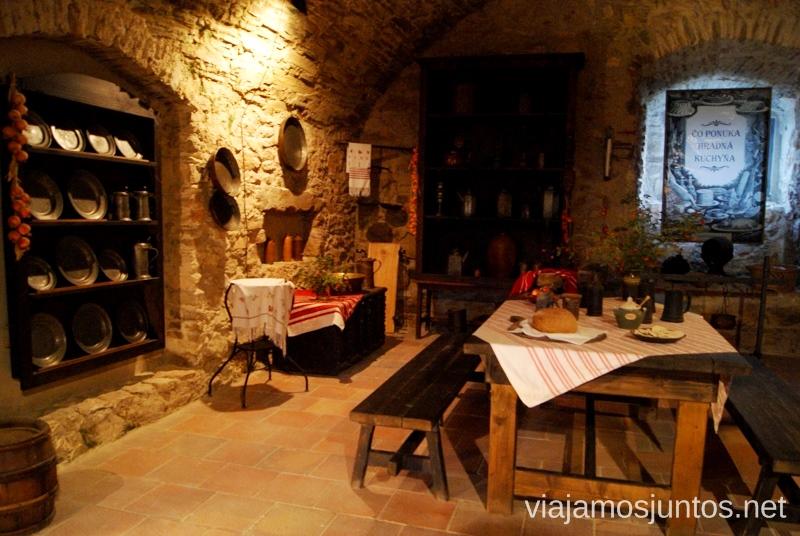 Cocina del castillo de Spis Castillos de Eslovaquia, Slovakia, #EslovaquiaJuntos Que ver y que hacer