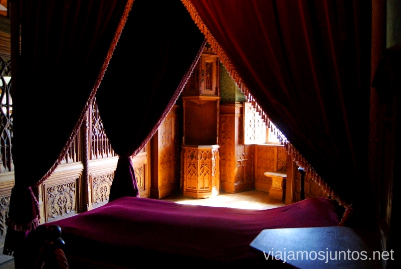 Uno de los dormitorios del castillo de Bojnice Castillos de Eslovaquia, Slovakia, #EslovaquiaJuntos Que ver y que hacer