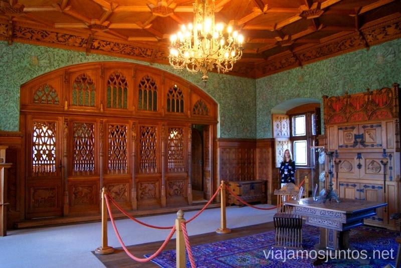 Impresionante trabajo en madera. Castillo de Bojnice Castillos de Eslovaquia, Slovakia, #EslovaquiaJuntos Que ver y que hacer