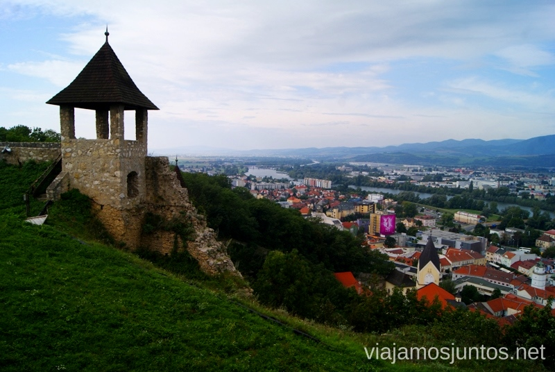 Vistas desde el castillo de Trencin Castillos de Eslovaquia, Slovakia, #EslovaquiaJuntos Que ver y que hacer