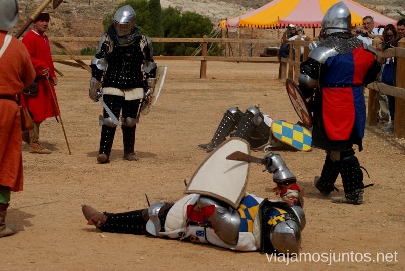 Han tocado suelo. Se acabó el juego I Torneo Internacional de Combate Medieval en el Castillo de Belmonte, Cuenca, Castilla-La Mancha #DesafioBelmonte