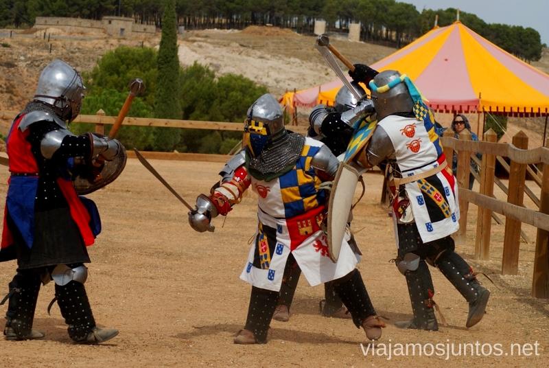 Los caballeros de Belmonte entrenándose I Torneo Internacional de Combate Medieval en el Castillo de Belmonte, Cuenca, Castilla-La Mancha #DesafioBelmonte