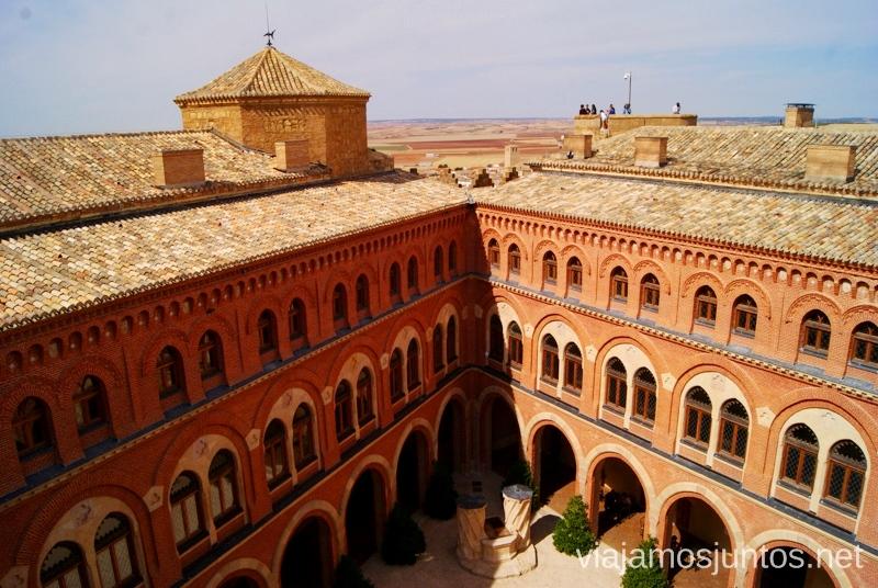 El patio triangular desde arriba I Torneo Internacional de Combate Medieval en el Castillo de Belmonte, Cuenca, Castilla-La Mancha #DesafioBelmonte