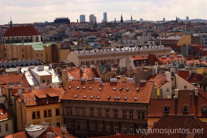 Desde la Torre del Reloj Vistas panorámicas de Praga, República Checa