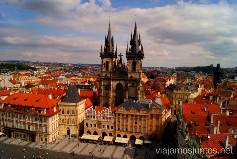 Desde la Torre Gótica Vistas panorámicas de Praga, República Checa