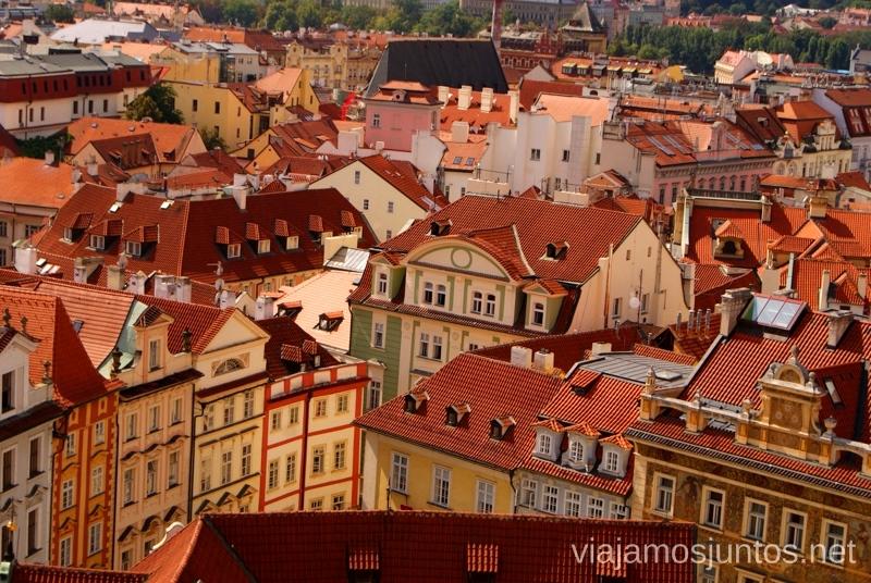 Praga colorida Vistas panorámicas de Praga, República Checa