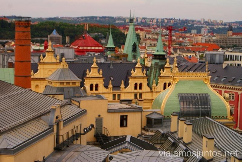 Desde la Torre de la Pólvora Vistas panorámicas de Praga, República Checa